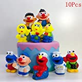 10PCS Sesame Inspired Cake Toppers Picks for Kids Birthday Party, Baby Shower Cake Decorations