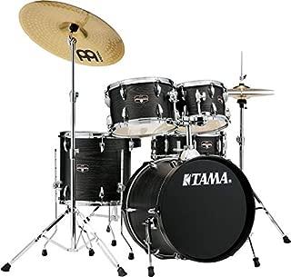 Tama Imperialstar Complete Drum Set - 5-Piece - 18 Inches Kick - Black Oak Wrap