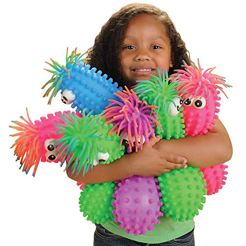 Constructive Playthings Set of Six 13' L. Assorted Color Knobby Puffer Squeeze Toys for Ages 3 Years and Up (CPX-1156)