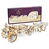 UGEARS- Royal Wedding Carriage Mechanical Wooden Model Kit Maqueta de Madera, Color (70050)