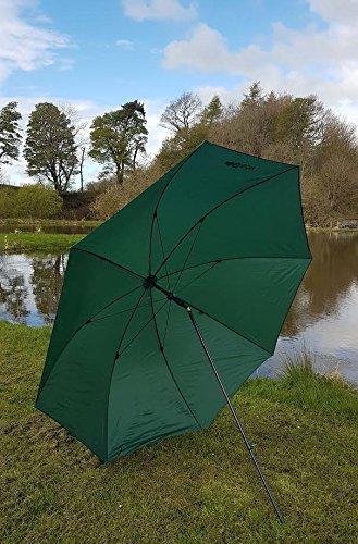"""Bison 88"""" 2.2m Top Tilt Fishing Umbrella Brolly Shelter"""
