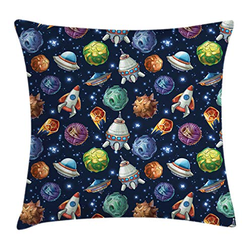 Ambesonne Space Throw Pillow Cushion Cover, Futuristic...
