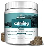 Pet Parents USA Dog Calming Treats 4g 90c + Anxiety Relief for Dogs – Organic Hemp for Dogs, Suntheanine + Nervous Dog, Pet Anxiety, Hyper Dog + Calming Treats for Dogs, Dog Anxiety Treats