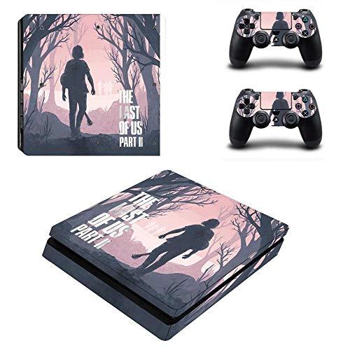 FENGLING The Last of Us Part 2 Ps4 Slim Skin Sticker Decal Vinyl For Playstation 4 Duslshock 4 Console & Controller Ps4 Slim Skin Sticker