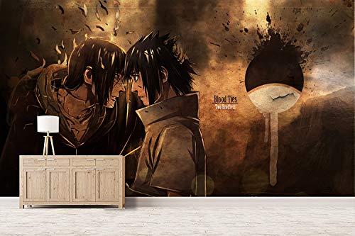 CZL Fototapete 3D Effekt Tapeten Naruto Naruto Uchiha Itachi Anime Motivtapeten Wandtapete Wandbild Wand Dekoration Für Schulen, Hotels, Wohnzimmer, Schlafzimmer, Restaurants Und Ktv-Bars