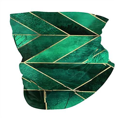 Decams Bandana máscara facial abstracta naturaleza verde esmeralda shams pasamontañas al aire libre a prueba de polvo resistente al viento multifuncional pañuelo para la cabeza para hombres y mujeres