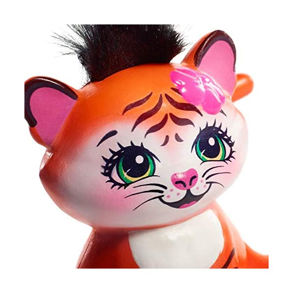 Enchantimals Hixby Hedgehog, Muñeca, Multicolor (Mattel Fjj22) + Muñeca Tanzie Tiger (Mattel Frh39)