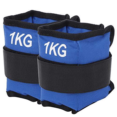 Redxiao 【𝐁𝐥𝐚𝐜𝐤 𝐅𝐫𝐢𝐝𝐚𝒚】 Pesas de Tobillo de Mano de Obra Fina, 1 kg de Pesas de Bolsa de Arena, Azul para Hombres, Mujeres, entusiastas del Fitness, Entrenamiento Muscular(1KG)