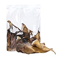 10 x Extra Large Cows Ears With Meat. Each ear is approximately the size of a Large Human Hand. Gluten & Grain Free, a great low odour, less greasy, less messy, leaner alternative to the popular pigs' ear. Perfectly air-dried, Easily digestible & a c...