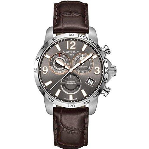 Certina DS Podium GMT Herren-Armbanduhr 42mm Leder Batterie C034.654.16.087.01
