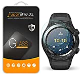 Supershieldz (2 Pack) for Huawei Watch 2 and Huawei Watch 2 Classic Tempered Glass Screen Protector, (Full Screen Coverage), Anti Scratch Bubble Free