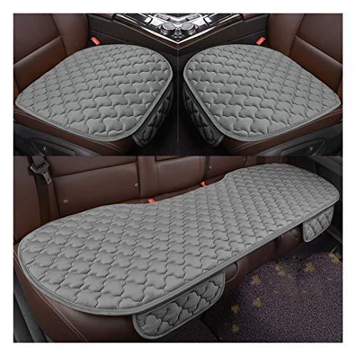 MISSMAO_FASHION2019 Universal Autositzauflage Auto Sitzkissen Vorne Hinten Sitzbezug Set, Sommer Auto Sitzbezug Atmungsaktiv Sitzauflage Grau:2 Vordersitze+1 Rücksitz Einheitsgröße