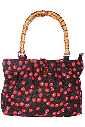 SugarShock Damen Kirschen Bambus Handtasche 148422686 schwarz