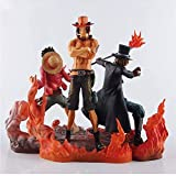 Action Figure One Piece Luffy Sab Portgas · D · Ace Three Brothers Personaggio Animato Modello Decorazione Statua