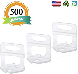 500pcs Tile Leveling System Clips 1/8 Inch (3MM) Leveling Spacer Clips