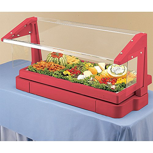 Cambro BBR480158 Table Top Buffet Bar, with Sneeze Guard, with iced Cold pan, 3-pan Size