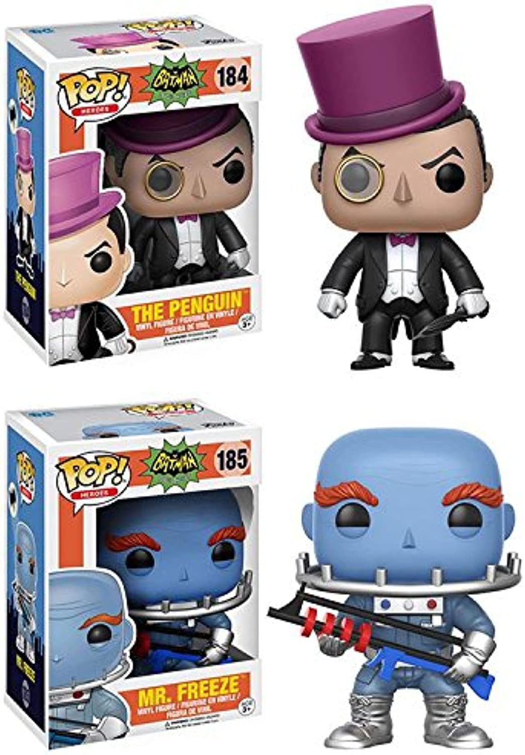 Funko POP  Batman 1966  The Penguin + Mr. Freeze - DC Vinyl Figure Set NEW
