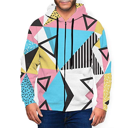 Black Triangles Geometric Hoodie for Men