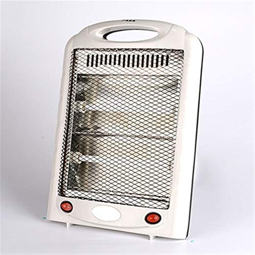 HAODE Portable Electric Fan Heater Stove Hand Winter Warmer Machine Bedroom Office Quartz Thermal Heating Radiator Hot Air Blower (Color : White)