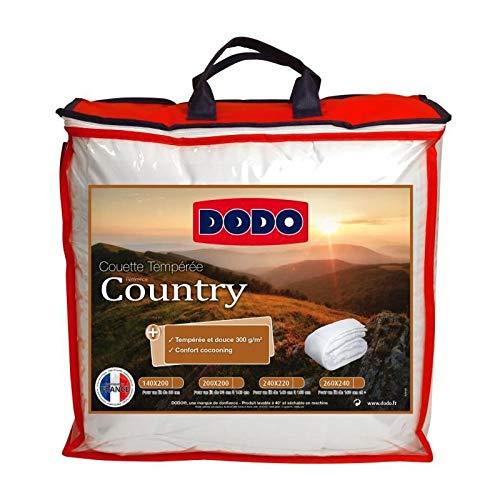 Dodo Couette tempérée Country - 140 x 200 cm - Blanc