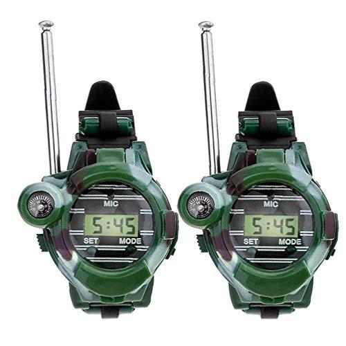 Odoukey Enfriar Camuflaje Juguete walkie talkies Reloj para los Cabritos 2 PC Digital Walky Talky Reloj al Aire Libre Juguetes radios de Dos vías Walky Talky para niños