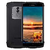 DOOGEE S55 Movil Antigolpes Todoterreno, IP68 Impermeable Octa Core 4GB + 64GB, 4G Smartphone Libres Android 8.0, 5500mAh 13.0MP+8.0M Cámara, 5,5 Pulgada HD+, GPS Impronta Digitale, Negro
