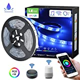 LE Tira de Luz WiFi, Tira LED Msica 5M RGBW, 300 LED Impermeable IP65, Control de Voz & APP,...