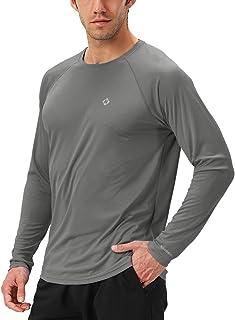 Naviskinスポーツシャツ メンズ 長袖 冷感 [UVカット・吸汗速乾] ドライ トレーニング アウトドア ウェア ロングスリーブ Tシャツ(長袖deepgrey-S)