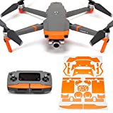 Wrapgrade Poly Skin Compatible with DJI Mavic 2 | Accent Color (NEON Orange)