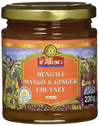TRULY INDIAN Bengali Mango-Ingwer Chutney – Fruchtig-würzige Fruchtpaste als Dip oder Fertigsauce für schnelle Gerichte – Indisch kochen mit natürlichen Zutaten – 6 x 230 g