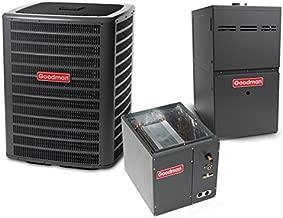 Goodman 2.5 Ton 14 SEER 80k BTU 80% AFUE 2 Stage Multi Speed Central Air Conditioner & Gas Split System - Upflow