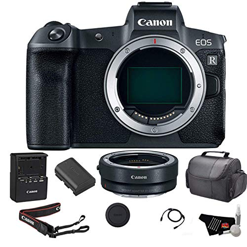 Canon EOS R Mirrorless Digital Camera (Body Only) Bundle with Canon Mount Adapter + Carrying Case and More