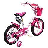 Actionbikes Kinderfahrrad Daisy - 16 Zoll – V-Break Bremse vorne - Stützräder - Luftbereifung - Ab 4-7 Jahren - Jungen & Mädchen – Kinder Fahrrad – Laufrad - BMX – Kinderrad (16`Zoll) - 5