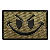Hook Evil Smiley Face Tactical Patch [3.0 X 2.0 inch MSF-10]