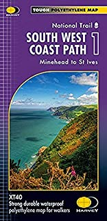 South West Coast Path 1 XT40: Minehead to St Ives (Route Maps)