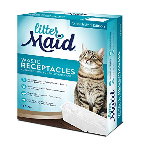 Littermaid Waste Receptacles, 18Count, Grey, 1st/2nd Edition box