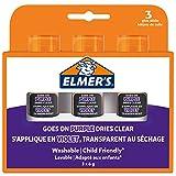 Elmer's Klebestifte, verschwundene violett, trocknet klar, ideal für Schulen und Bastelarbeiten, waschbar und kinderfreundlich, 6 g, 3 Stück