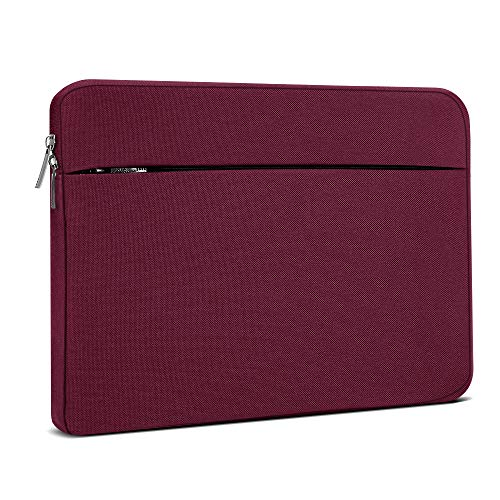 Laptop Sleeve 14 Inch, AtailorBird Notebook Protective Bag Carrying Case Water-Repellent with Accessory Pocket for Ultrabook Tablet Cover Case, Burgundy
