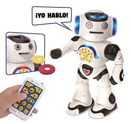 LEXIBOOK Powerman Robot de Juguete Parlante, color blanco (ROB50ES)