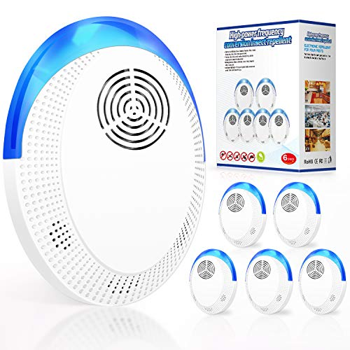 SCAPUENIOT Ultrasonic Pest Repeller, Pest Reject 6 PCS Pest Repellent Ultrasonic Plug in Mice Mosquito Repellent - 2021Latest Indoor Electronic Pest Control for House Home