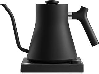 همکار Stagg EKG، کتری برقی برای قهوه و چای، مات سیاه، کنترل دمای متغیر، گرمایش سریع 1200 وات، کرونومتر Brew Brew