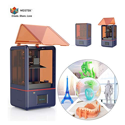 WEISTEK LCD 3D Printer with Parallel Matrix 405nm Light, 5.5inch 2K Screen, Z-axis Dual Linear Rail & Off-line Print 4.72in(L) x 2.36in(W) x 6.10in(H) Printing Size
