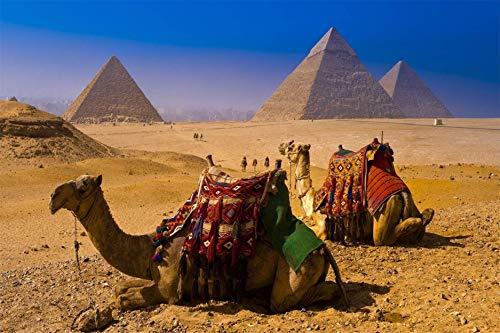 WFTD 1000 Piezas Rompecabezas Adultos Juguetes educativos Pirámides egipcias Adultos Juegos Infantiles Arte DIY Juguetes