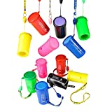 Kicko Air Horn - Horn Air Hooter, 12 Pack of Blow Horn, Sports Event, Pranking, Ideas, Boat, Train or Cars Signal, Fire Alarm, Traffic Signal and Lifeguard Emergency - 3 Inch