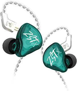 KZ ZST X in-Ear Monitors, Upgraded Dynamic Hybrid Dual Driver ZSTX Earphones, HiFi Stereo IEM Wired Earbuds/Headphones wit...
