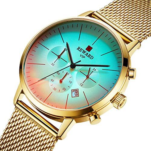 gilivableskr Reloj de Cuarzo Reloj Casual Simple Ultrafino de Moda Oro Concha Oro, Concha Rosa Azul, Concha Negra Negra, Concha Blanca Blanca