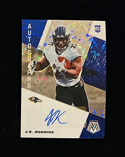 2020 Panini Mosaic No Huddle J.K. Dobbins Auto Disco Rookie Card #ANH-JKD Ravens - Football Slabbed Autographed Rookie Cards