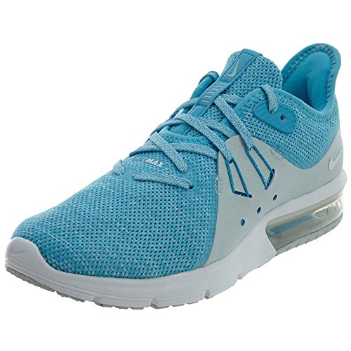 Nike Women's Air Max Sequent 3 Running Shoe (6.5 B(M) US, Blue Fury/White-Glacier Blue)