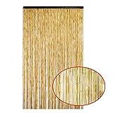 Cortina PENGFEI Bambú Natural Cuentas De Cortinas for Puerta Divisor Decoración De Interiores Cadena Paneles De Pantalla De Borla, Color De Madera, 60/90 Acciones