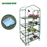 4-Tier Mini Greenhouse Portable Plastic Greenhouse Covers, PVC Clear Outdoor Gardening Cover Roll-Up Door,For Growing Vegetables, Flowers, Seedlings, Potted Plants,69x49x155 cm(ONLY PVC COVER)